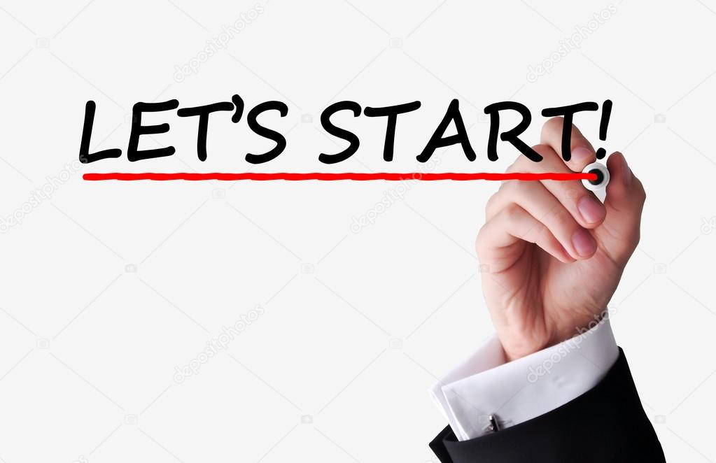Let's start text — Stock Photo © Ai825 #53302063