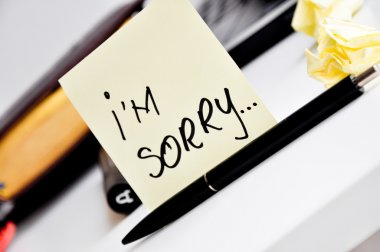 I'm sorry message post it