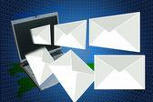 laptop a dopisy.