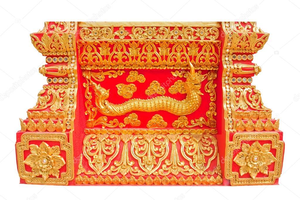 Rey de naka o dragon thai en tailandés estilo del arte del moldeado ...