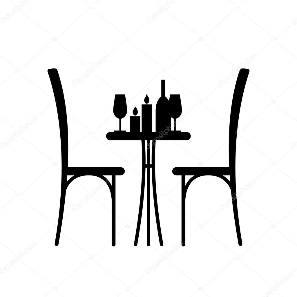 Restaurant table for two - Table In The Restaurant For Two Stock Vector 65983483