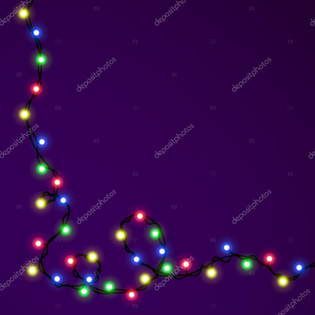 Weihnachts-Vorlage für die Gratulation mit garland — Stockvektor ...