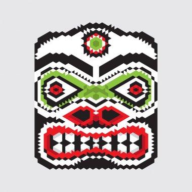 Geometric haida mask