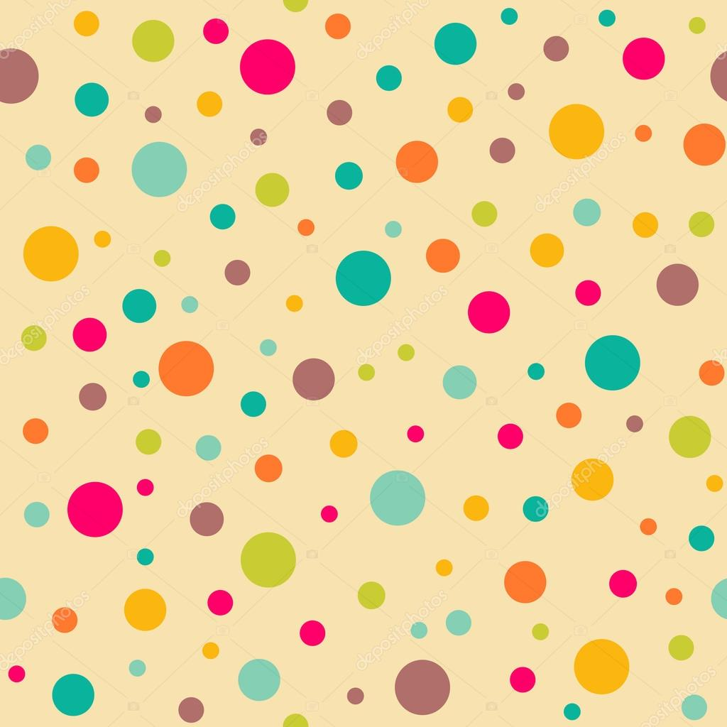 Bright Seamless Pattern With Polka Dots Endless Yellow Background Stock Vector C Kollibri 54541693