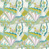 Tradiční dekorativní vzor. Ručně tažené barevný aztécký vzor s uměleckými prvky. Pastelové barvy
