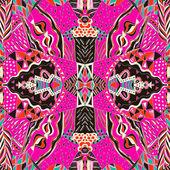 Tradiční dekorativní paisley šátek. Ručně tažené barevný aztécký vzor s uměleckým vzorem