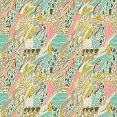 Fotografia Bandana paisley ornamentale tradizionale. Fondo disegnato a mano con motivo artistico. Colori pastello