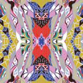 Fotografia Bandana paisley ornamentale tradizionale. Fondo disegnato a mano con motivo artistico. Colori vivaci