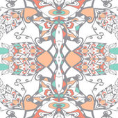 Traditional ornamental paisley bandanna. Hand drawn background with artistic pattern.