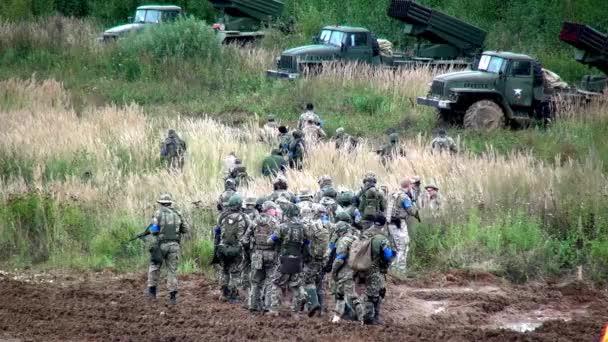 Squad of strikeball team with machine submachine guns.