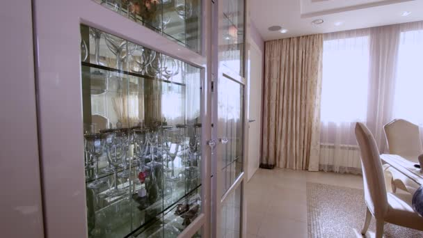Sala da pranzo interna Appartamento moderno di lusso.