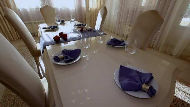 Luxus apartman Modern beltéri étkező.