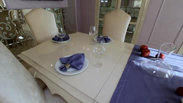Luxusní byt moderní interiér jídelna.