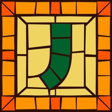 J- Mosaic alphabet capital letters