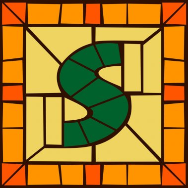 S- Mosaic alphabet capital letters