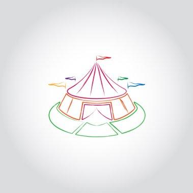 Traveling circus icon