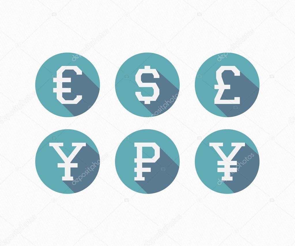 International Currency Symbols Stock Vector Image4stock 69323925
