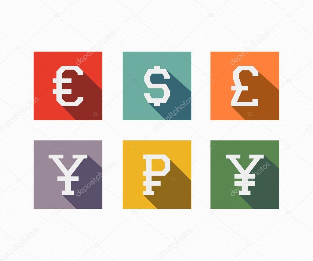 International Currency Symbols Stock Vector Image4stock 69324393