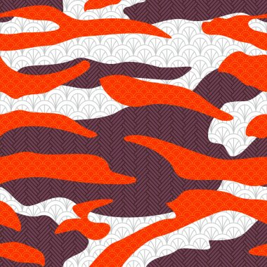 Camouflage, japan seamless pattern