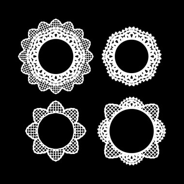 Lace, round ornaments set