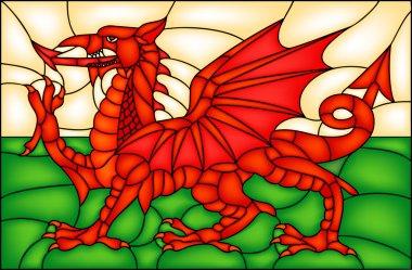 Vintage Flag of Wales