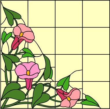 Garden flowers composition