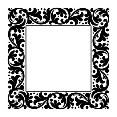 floral square abstract frame