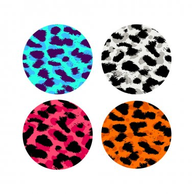 Leopard, cheetah skin seamless patterns