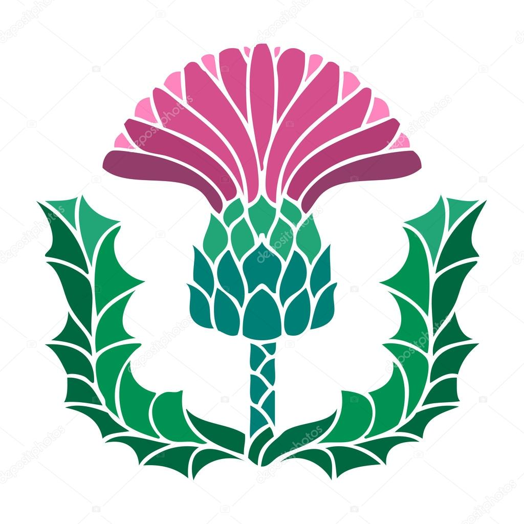 Thistle Flower Symbol Stock Vector Image4stock 82352046