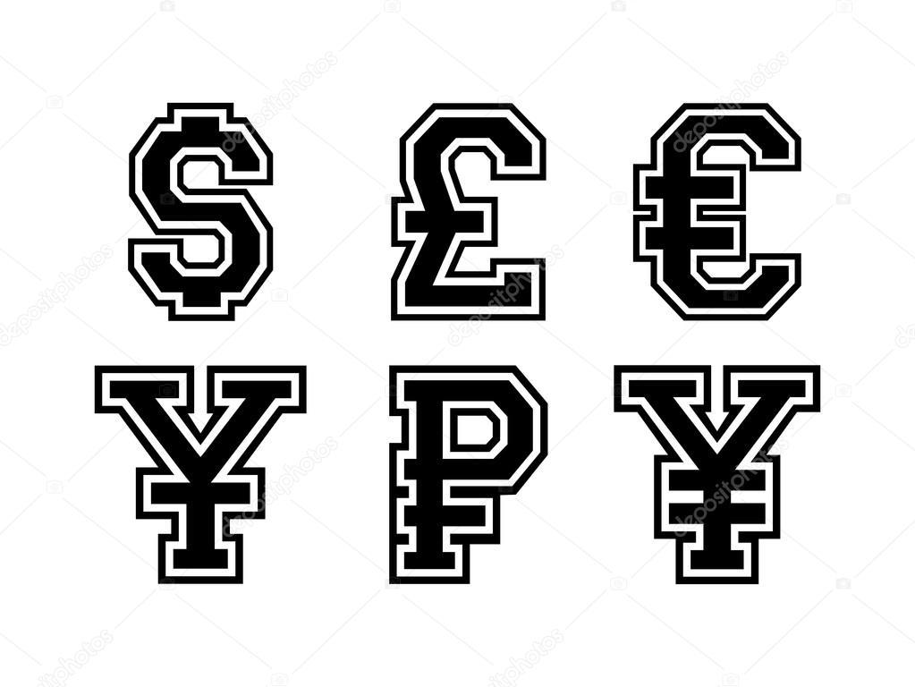 international currency symbols  u2014 stock vector