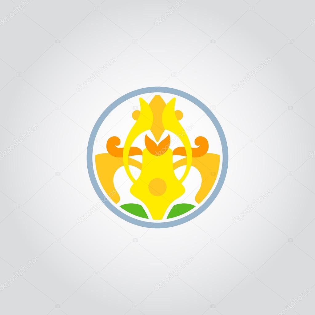 jonquille, symbole de fleur de narcisse, logo — image vectorielle
