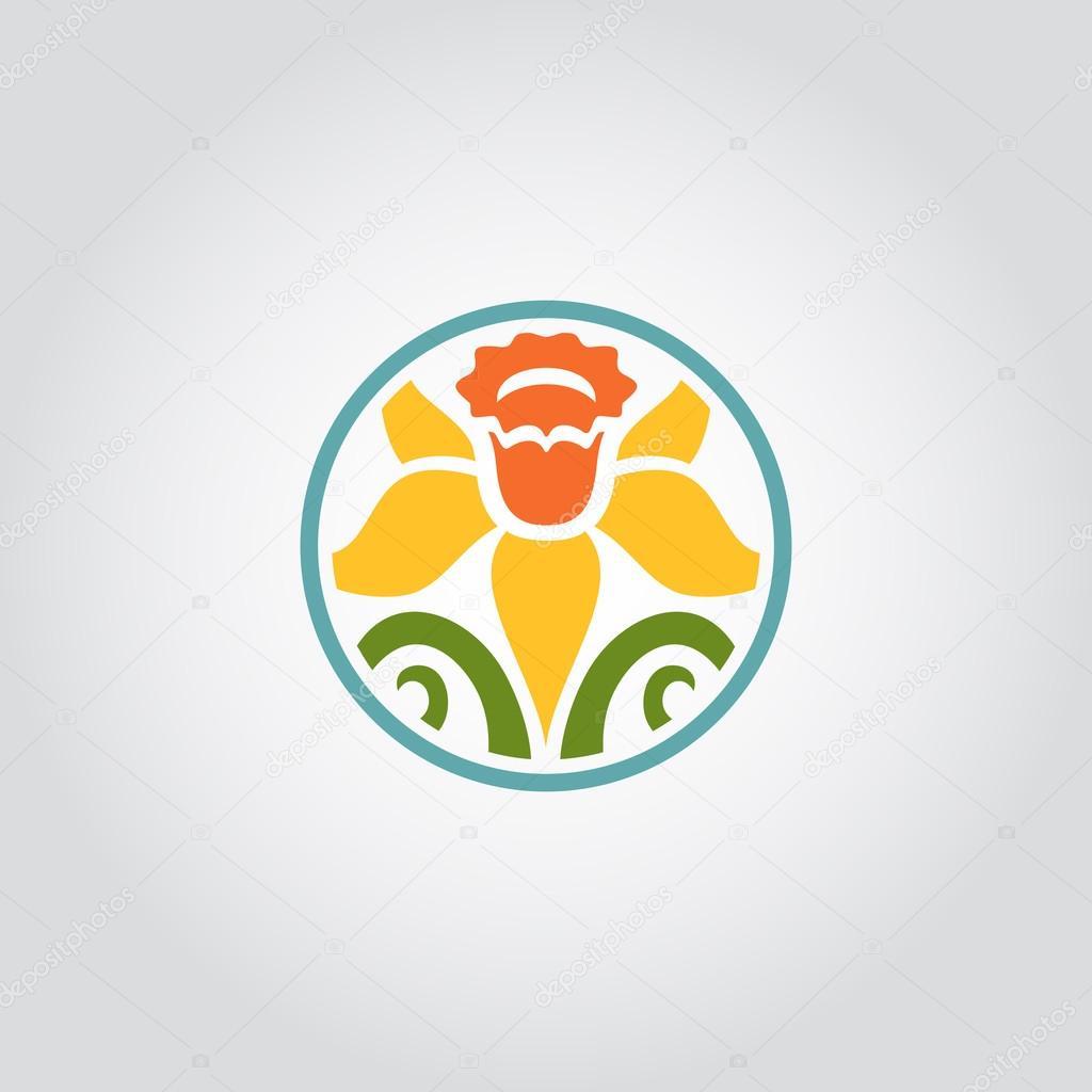 symbole de fleur de narcisse, logo — image vectorielle #82354314