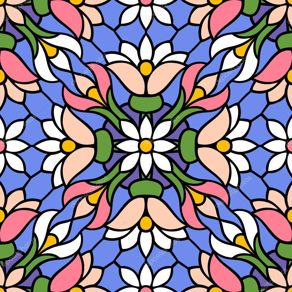 Flowers, multicolor seamless pattern