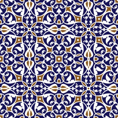 Oriental traditional floral ornament, Moroccan seamless pattern, tile design, vector illustration stock vector