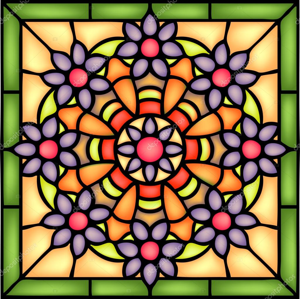 floral abstract symmetric composition