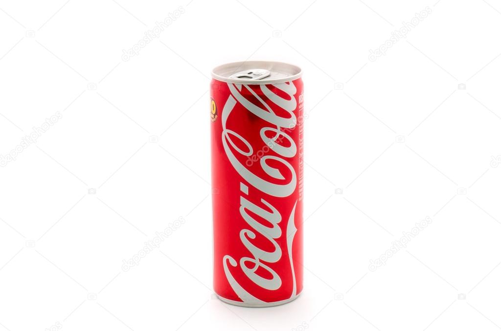 LAMPHUN, THAILAND- NOV 18, 2014:  Coca-Cola  on white background