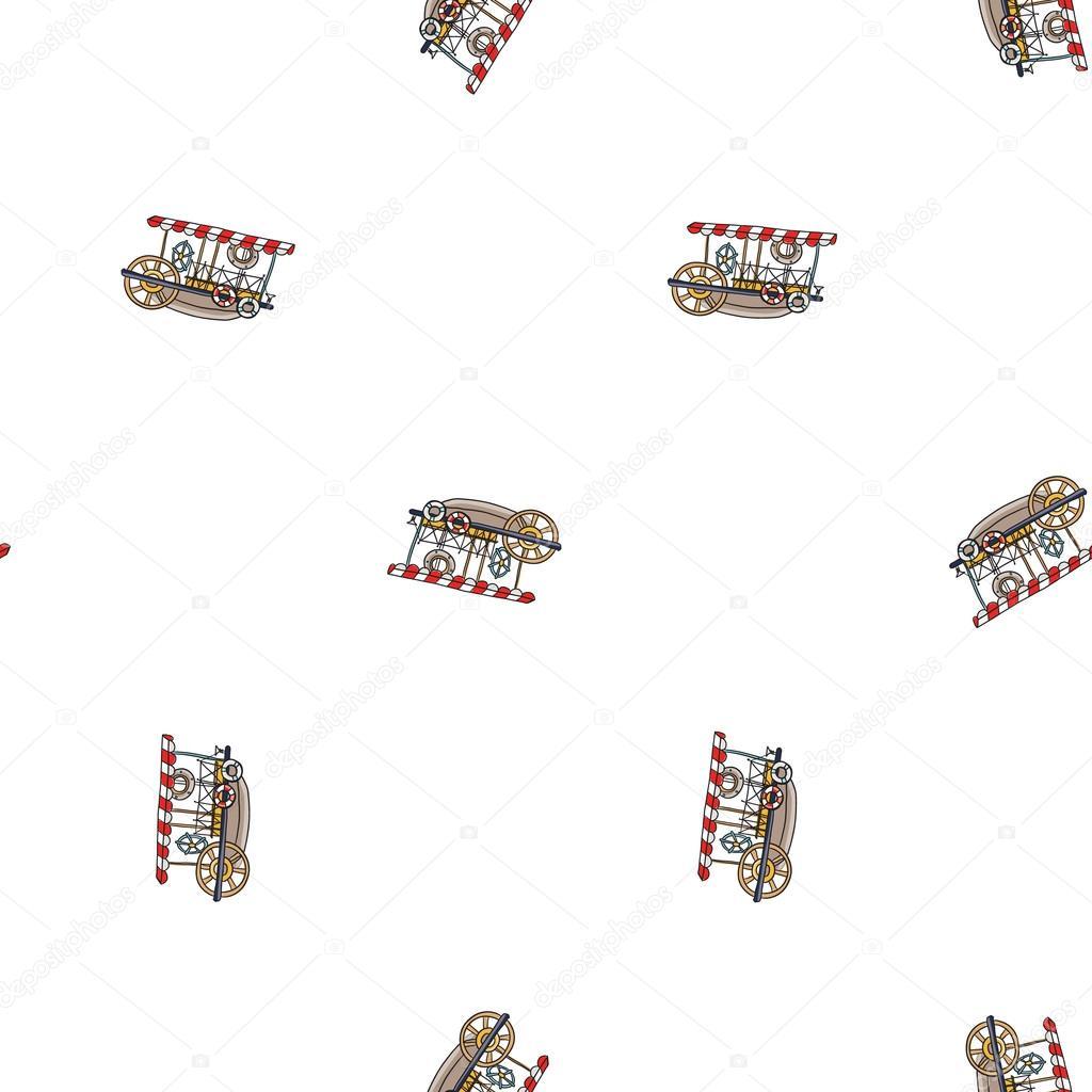 patrón de embarcaciones de crucero infantil — Archivo Imágenes ...