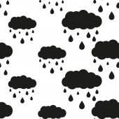 Photo rainy cloud seamless pattern