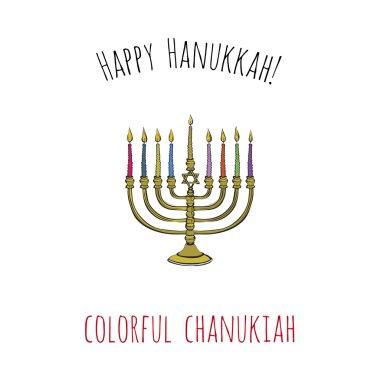 Symbol of hebrew ceremony card