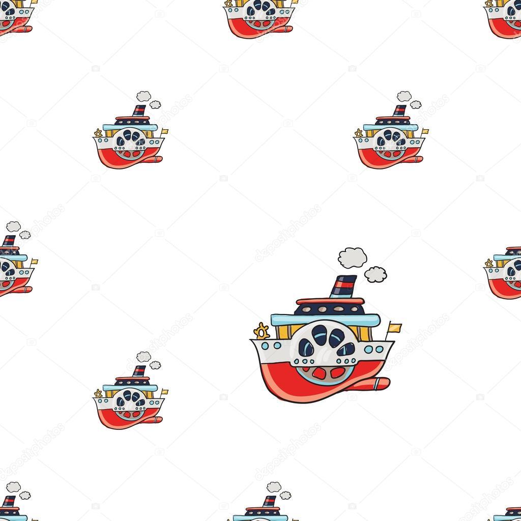 patrón de embarcaciones de crucero — Vector de stock © Sopelkin ...