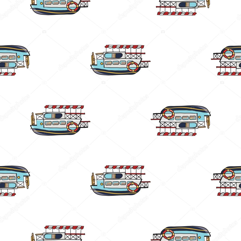 patrón de embarcaciones de crucero infantil — Vector de stock ...