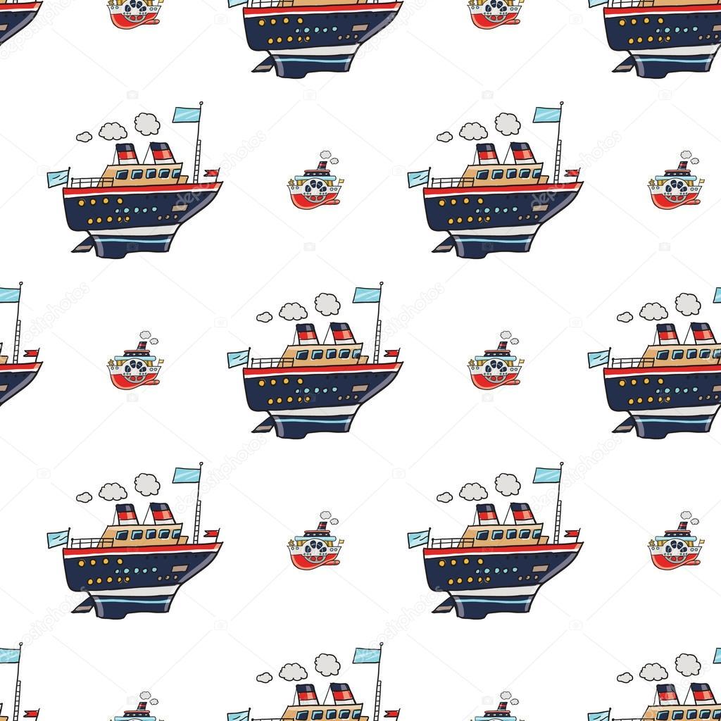 patrón de embarcaciones de crucero — Archivo Imágenes Vectoriales ...