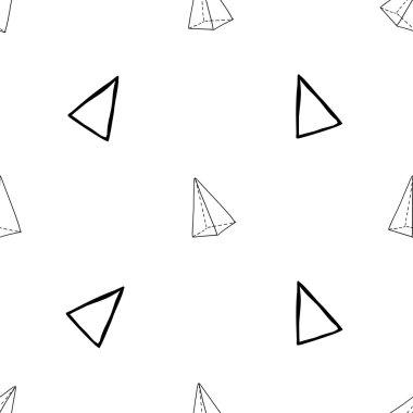 Geometric triangles pattern,vector illustration clip art vector