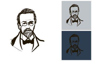 Anton Chekhov sketch portrait