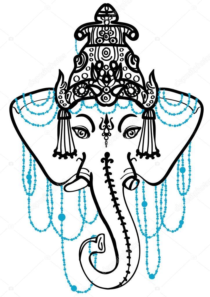 traditional indian symbol ganesha elephant stock vector sopelkin 114333146. Black Bedroom Furniture Sets. Home Design Ideas