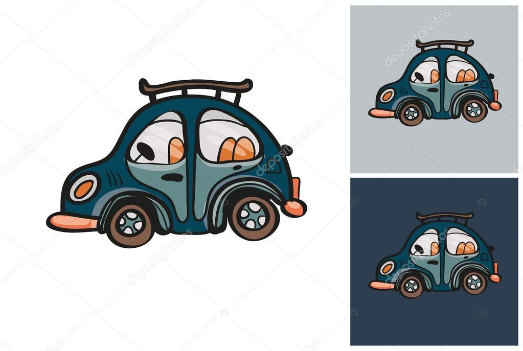 Dibujo de coche pequeño estilo de niños — Archivo Imágenes ...