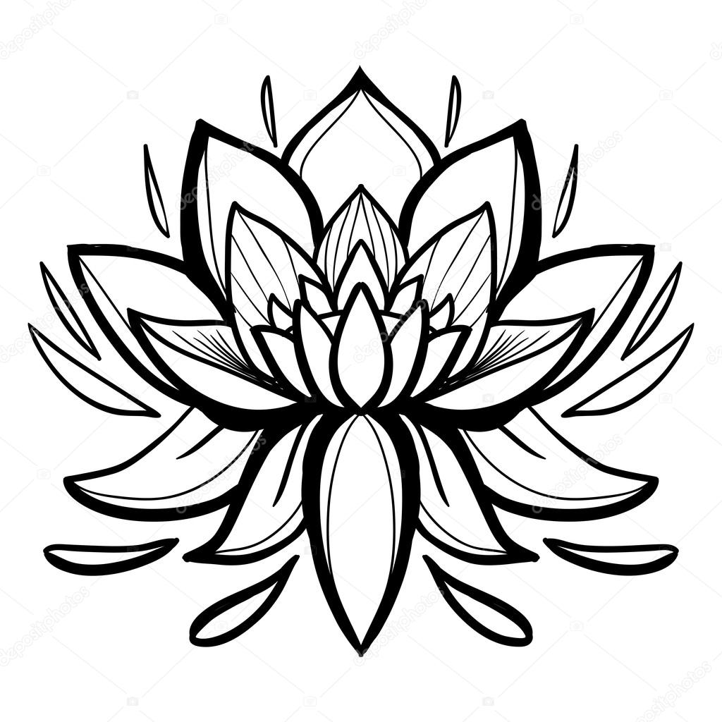 Traditional Indian symbols lotus — Stock Vector © Sopelkin #114338910