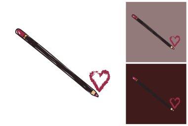 Makeup fashion sketch: lip liner