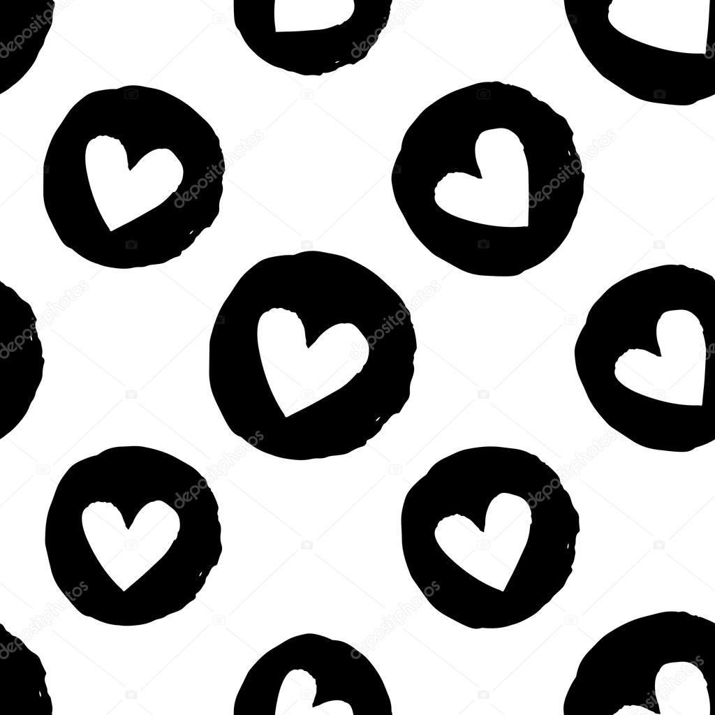 patrones sin fisuras con corazones — Archivo Imágenes Vectoriales ...