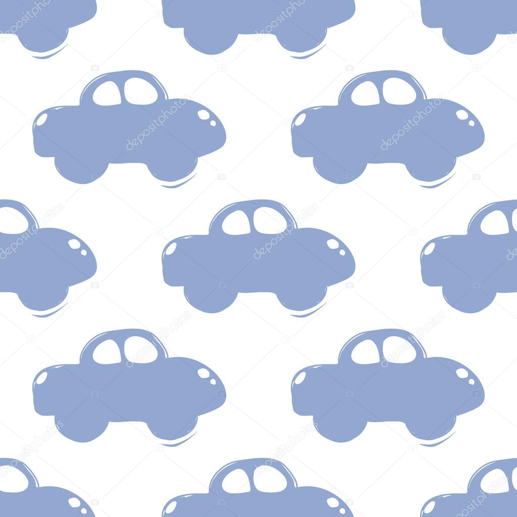 modern kids pattern with car stock vector sopelkin 119727724